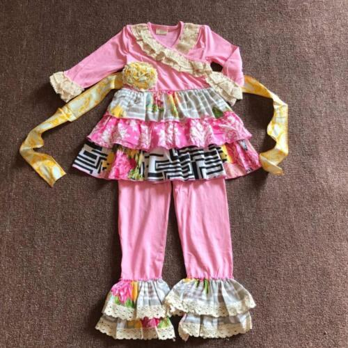 W-240 Boutique 2PC Pink Floral Set Ready to Ship from Ohio Free Shipping