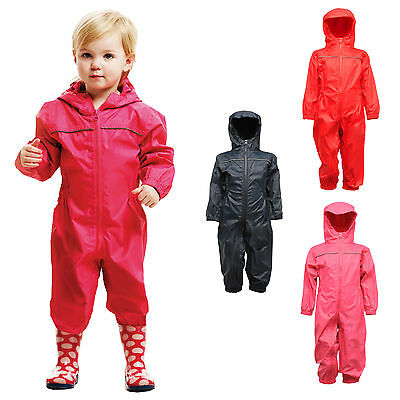 Pink Rainsuit Shop Kids Waterproof Over Trousers in Black Red or Royal Blue Childs Childrens Boys Girls