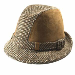 VTG-DOBBS-MENS-FEDORA-SHELOCK-HOLMES-STYLE-HAT-CAP-SIZE-7-3-8