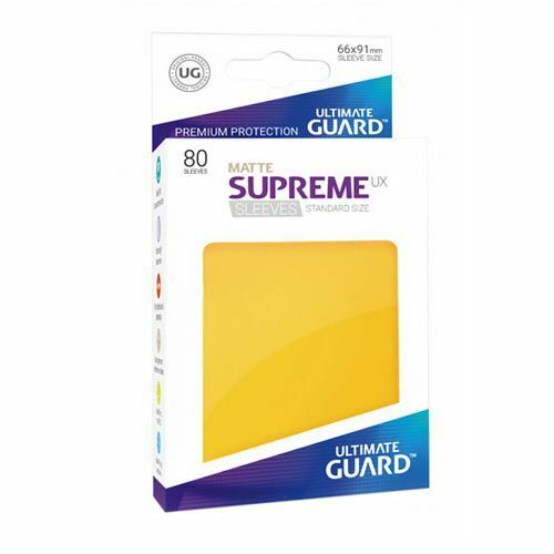 MATTE 80 YELLOW Ultimate Guard SUPREME UX STANDARD Size Card Sleeves