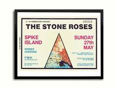 Stone Roses Spike Island billete Cartel