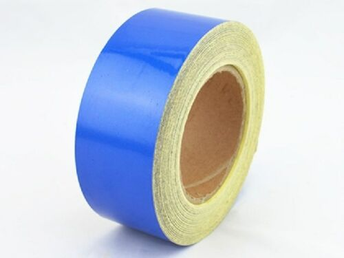 "Blue Reflective Safety Warning Conspicuity Tape Film Stickers 2/""x10/'"