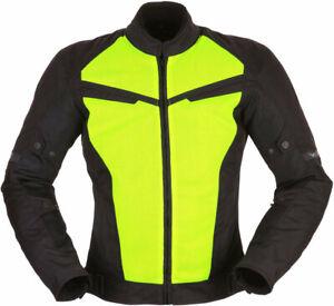 MODEKA-X-Vent-Sommer-Motorradjacke-schwarz-gelb-Gr-L-herausnehmbare-Membran