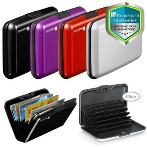 RFID Aluminum AntiTheft Minimalist ID Credit Card Holder Wallet Lock Case 8 Slot