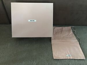 Authentic-Miu-Miu-Empty-Box-Shoe-Box-Dust-bag-Gift-Storage-31-26-12cm