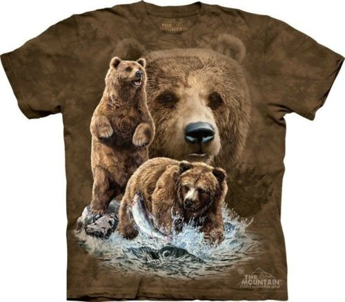 Find 10 Brown Bears T-Shirt by The Mountain Hidden Images Tee Puzzle S-5XL NEW