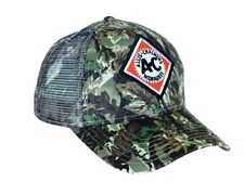 Allis Chalmers Tractor Cap Vintage Logo Camo Hat Mesh Back Accents Gift