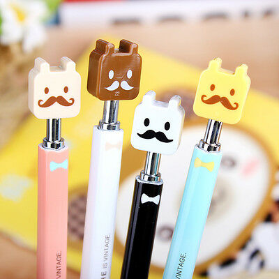 New Cute Cartoon Stationary Writing School Office Beard Ballpoint Pen Kid Gift