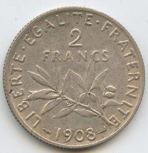 III Republic (1871-1940) 2 Francs Sower 1908