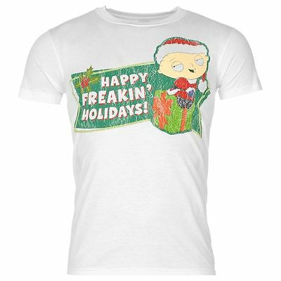 Family Guy 'Happy Freakin' Holidays!' Mens Stewie Christmas Xmas T-Shirt - BNIP