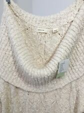 Anthropologie Meli Cable Sweater Dress By Sleeping On Snow Ivory Large NWT $148