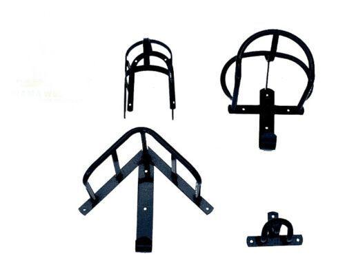 Geschirrhalter Set schwarz 4-teilig Geschirr Pferd Halter Wand Kutschgeschirr