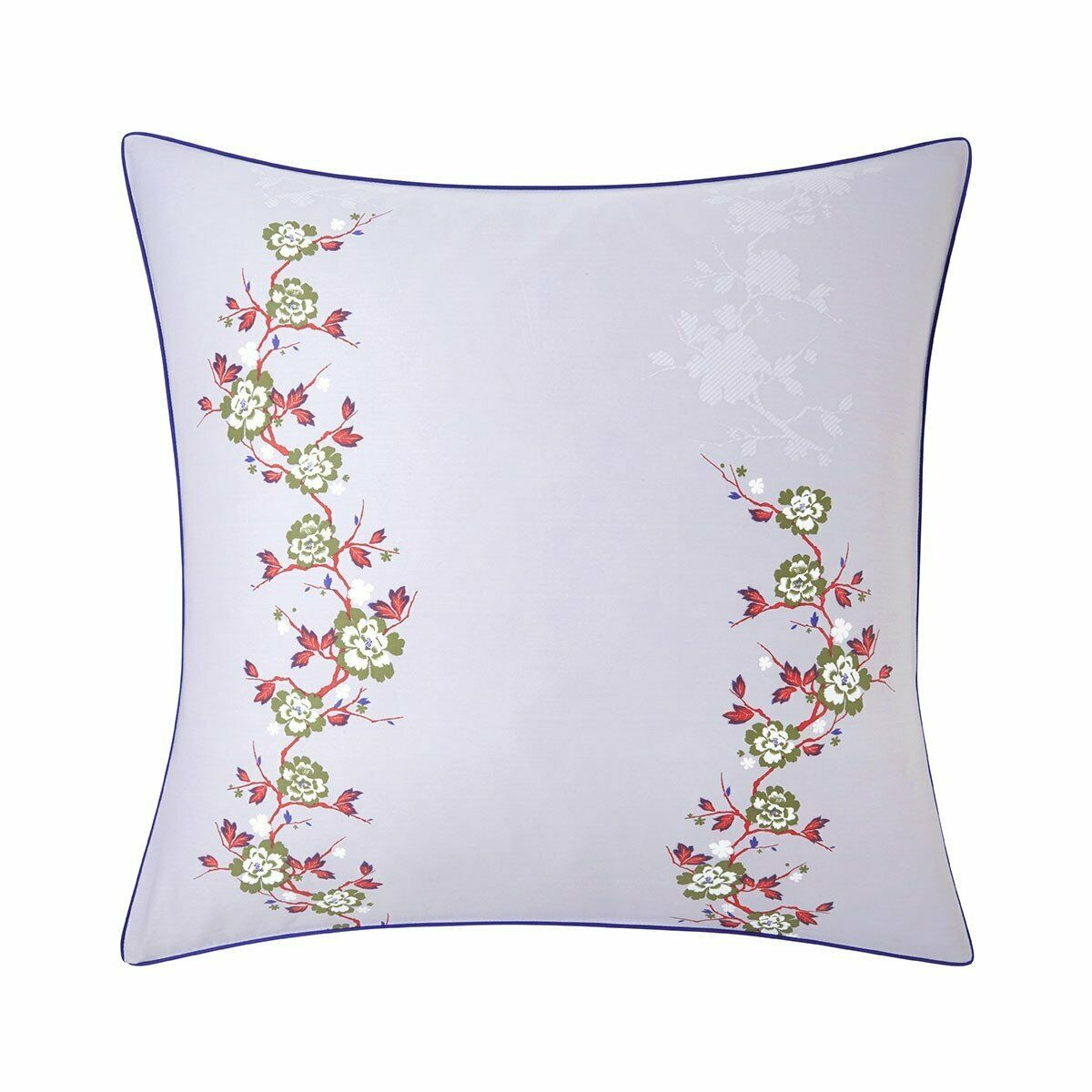 QIPAO BY KENZO - COTTON SATEEN PILLOW SHAM WITH FLORAL VINES