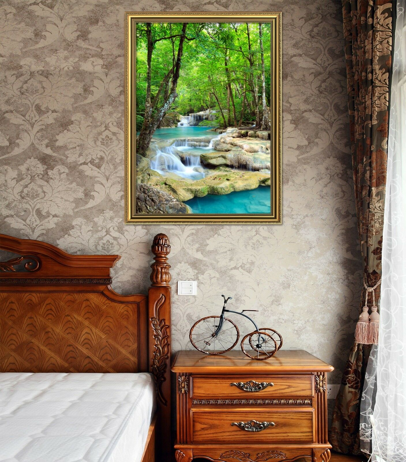 3D Stone Bridge 599 Framed Poster Home Decor Print Painting Art AJ AU