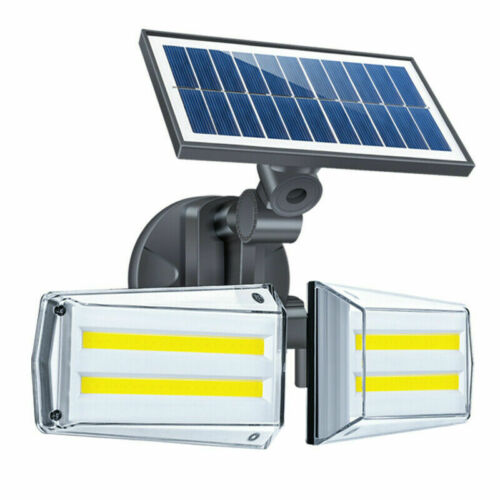 80 COB LED Solar Power PIR Motion Sensor Wall Light Outdoor Garden Lamp IP65