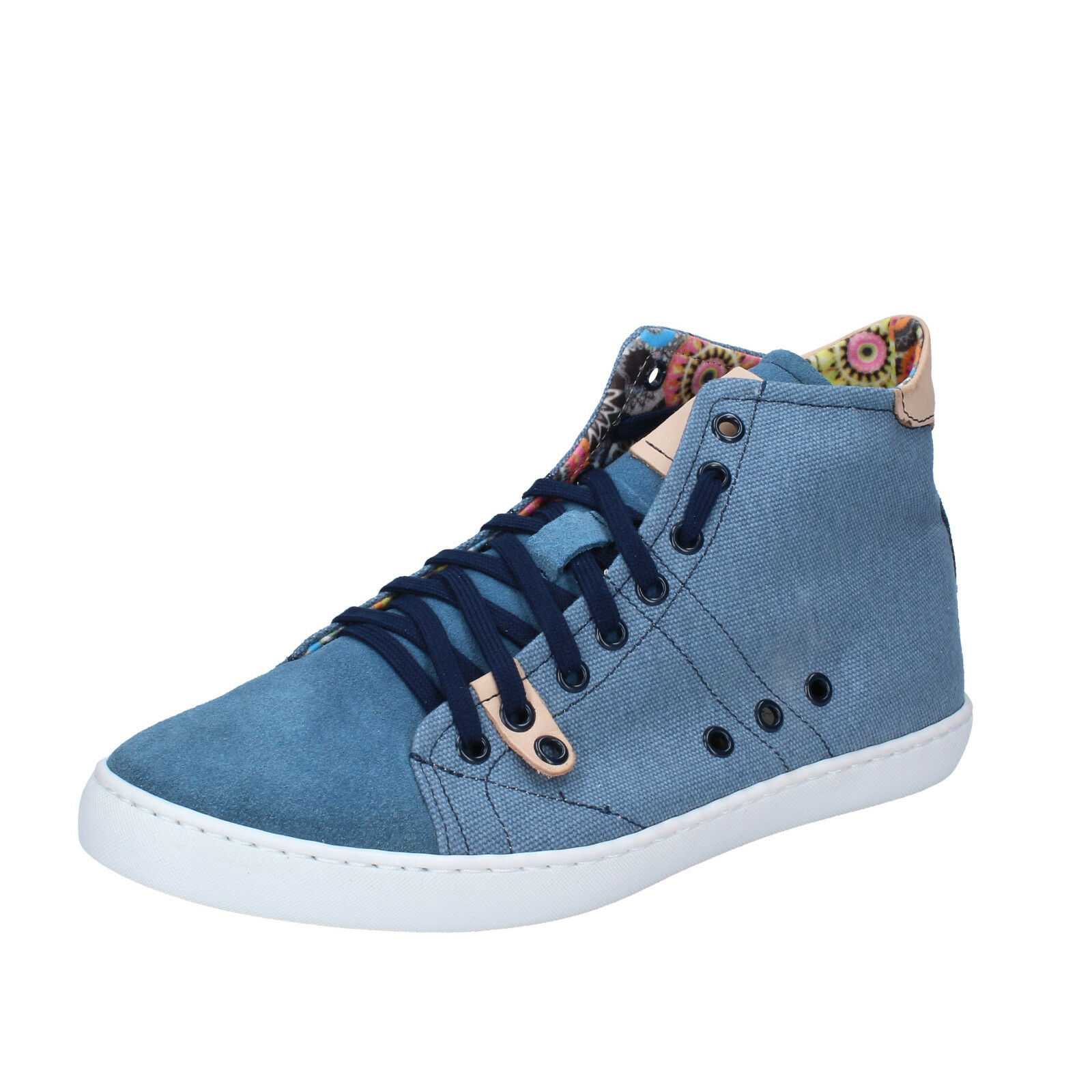 men's shoes KTL BY CORAF 8 () sneakers blue textile suede BY99-C