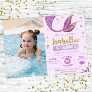 MERMAID-INVITATIONS-UNDER-THE-SEA-GIRLS-BIRTHDAY-PARTY-SUPPLIES-INVITE-GOLD