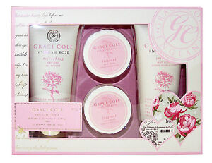 Grace-Cole-ENGLISH-ROSE-4-tlg-Wellness-Beauty-Pflege-Set-fuer-Damen-Neuware