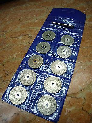 "10 pcs 50mm ( 2"" inch ) Diamond coated rotary cutting cut off blade wheels disc"