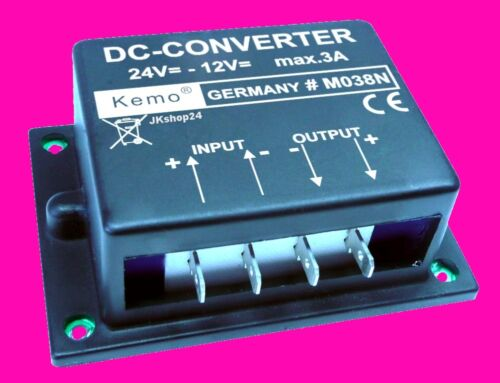 NEU KEMO Gleichspannungswandler 24V zu 12V LKW//BUS Konverter DC-Converter KFZ