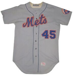 save off 59ada ea3ee Details about Tug McGraw Game Used Worn New York Mets 1974 Road #45 Vintage  Jersey COA