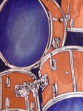 Drums Drum Set Music Musical Men's Novelty Necktie Neck Tie Steven Harris Slved