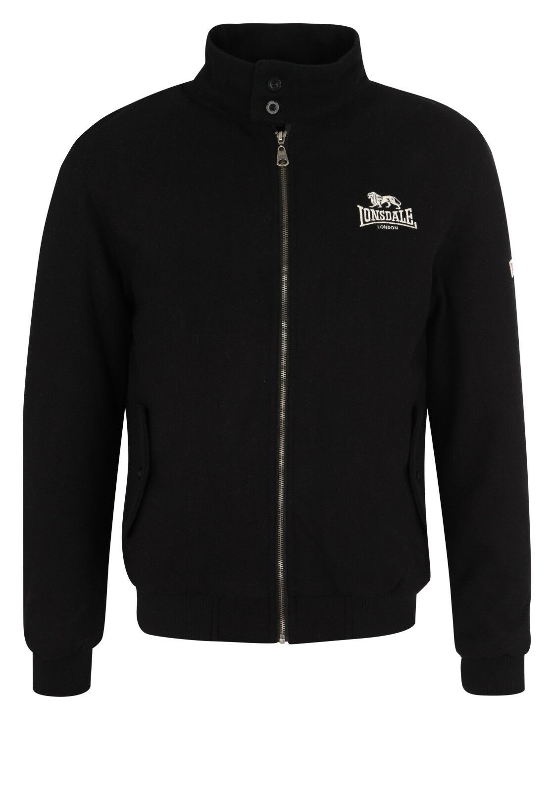 Lonsdale Melton Men Jacket schwarz Jacke Harrington