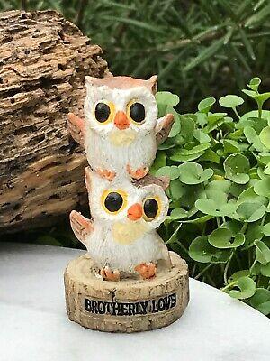 Miniature Dollhouse FAIRY GARDEN Figurine ~ Mini OWL Family Tree We Are FAMILY