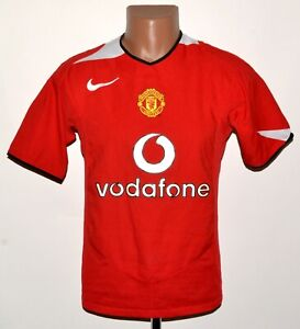 Manchester United 2004/2005/2006 Calcio Casa maglietta jersey Nike Taglia S adulto