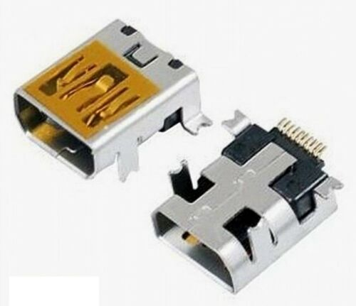 10x connecteur Mini USB femelle 10 broches//10x Connector female Mini USB 10 pins