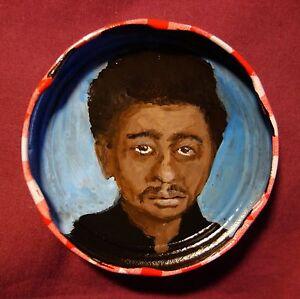 DONALD-GOINES-Jam-Jar-Lid-Portrait-Literary-New-Orleans-Outsider-Art-PETER-ORR