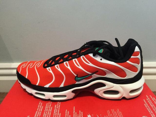 hot sale online e2d4e f15b7 Nike Tuned Air Max Plus TN Sz UK 11 EU 46 US 12 852630-801 Orange & Teal