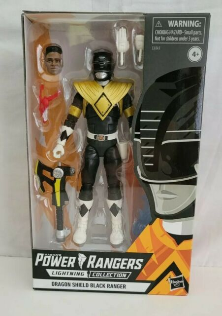 WALGREENS EXCLUSIVE LIGHTNING COLLECTION DRAGON SHIELD BLACK POWER RANGER .