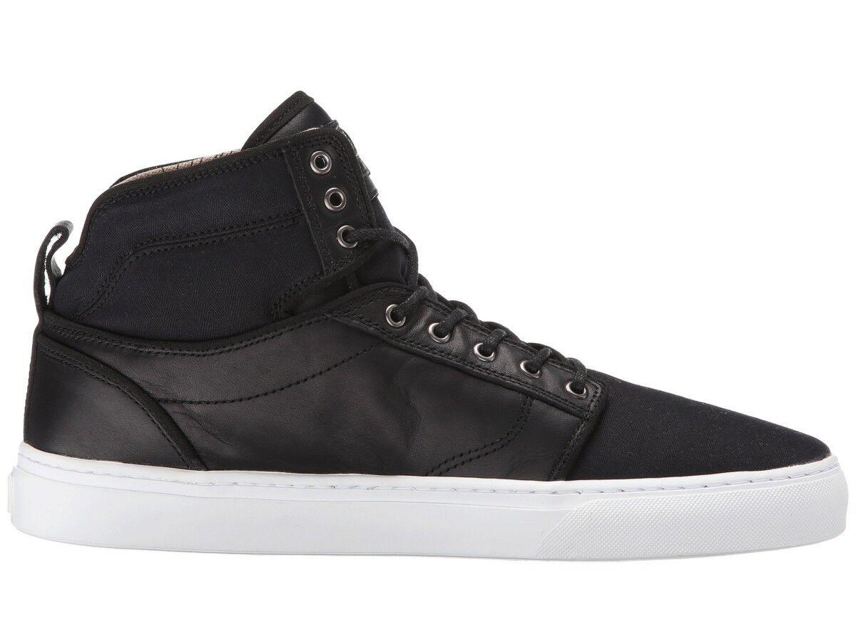 NEW Mens Vans Alomar Fish Bones Shoe Size 9 Sneakers Hi Top Leather Canvas