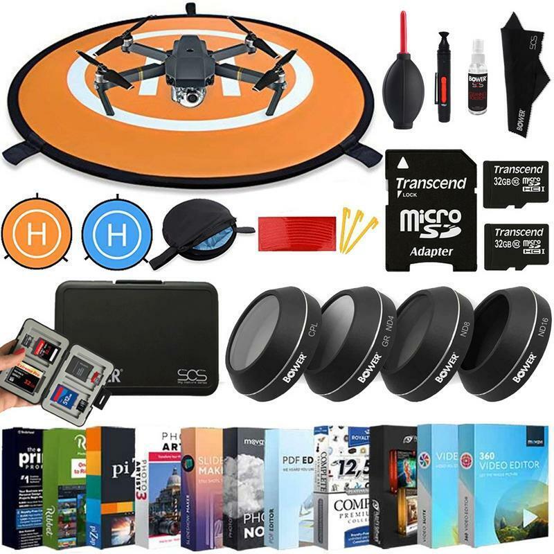 Plataforma de aterrizaje para DJI Mavic Pro UV ND4 ND8 Kit Filtro ND16 + Kit de Accesorios de filtro