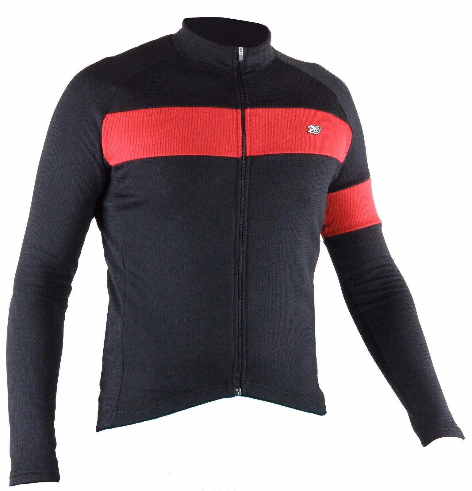 Maglia manica lunga ciclismo giacca leggera nero abbigliamento bici mtb