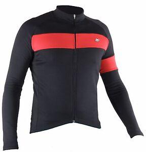dead93b4fdf04b Caricamento dell'immagine in corso Maglia-manica-lunga-ciclismo -giacca-leggera-nero-abbigliamento-