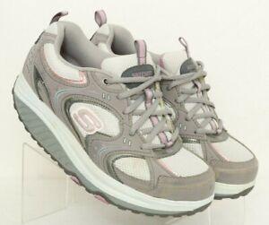 Skechers-Shape-Ups-11806-Gray-Toning-Walking-Rocker-Shoes-Women-039-s-US-8