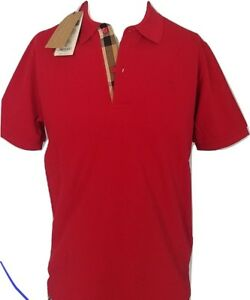 473c4ad45d55 Image is loading Burberry-mens-short-sleeve-nova-check-placket-oxford-
