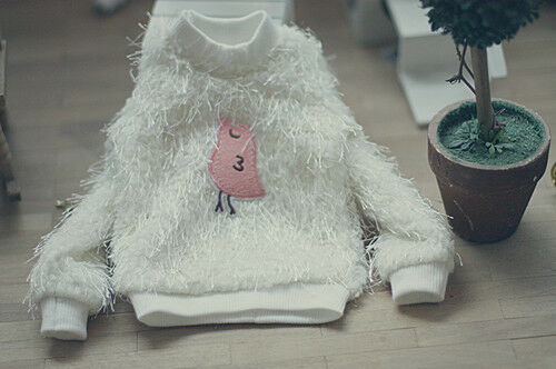 New  lovely white Wool cloth with soft nap upper outer garment 1//3 BJD Clothes