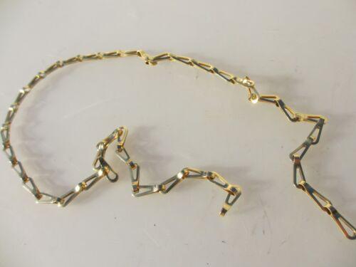 "Vintage Brass Lighting Chain Hanger Loop Chandelier Light Pull Plug Old 71cm 28/"""