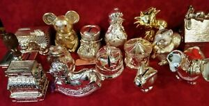 Lot of 15 Vintage Silver Savings Banks - Snoopy, Woodstock, Musical, & rare ones