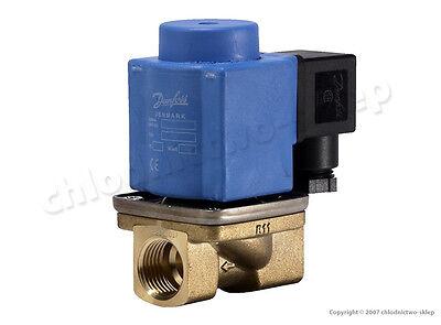 "Solenoid valve Danfoss EV251B 12B, NC, 1/2"", 24V 230V AC/DC, +coil&connect Water"