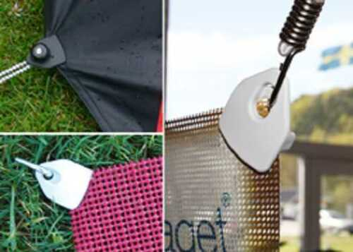 10 Holdon mini clip /& spannfix planenspanner gris de sujeción-paréntesis-fijas expansor