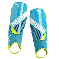 Puma Soccer Shinguards Blue Yellow Evospeed 3 Small Or Large Youth Adult Nocsae