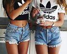 New Women's Casual Top Blouse Lady Slim Print Crop Top Tank T-Shirt Sportwear