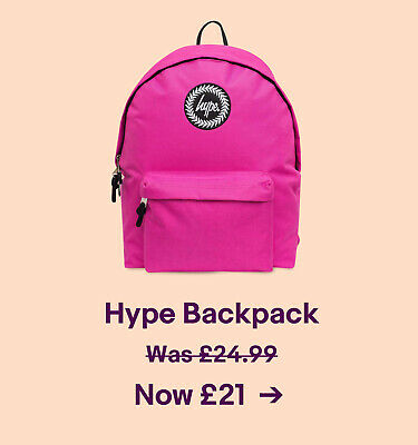 Hype Backpack. Was 24.99. Now £21.
