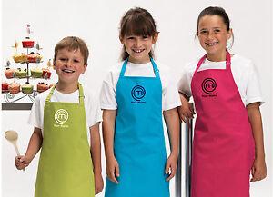 Personalised masterchef logo child apron embroidered - Delantal masterchef personalizado ...