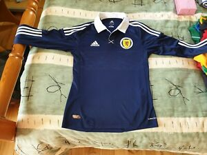 Details about Scotland Football Long Sleeve Home Jersey 2011 to 2013 Small Adult adidas Shirt