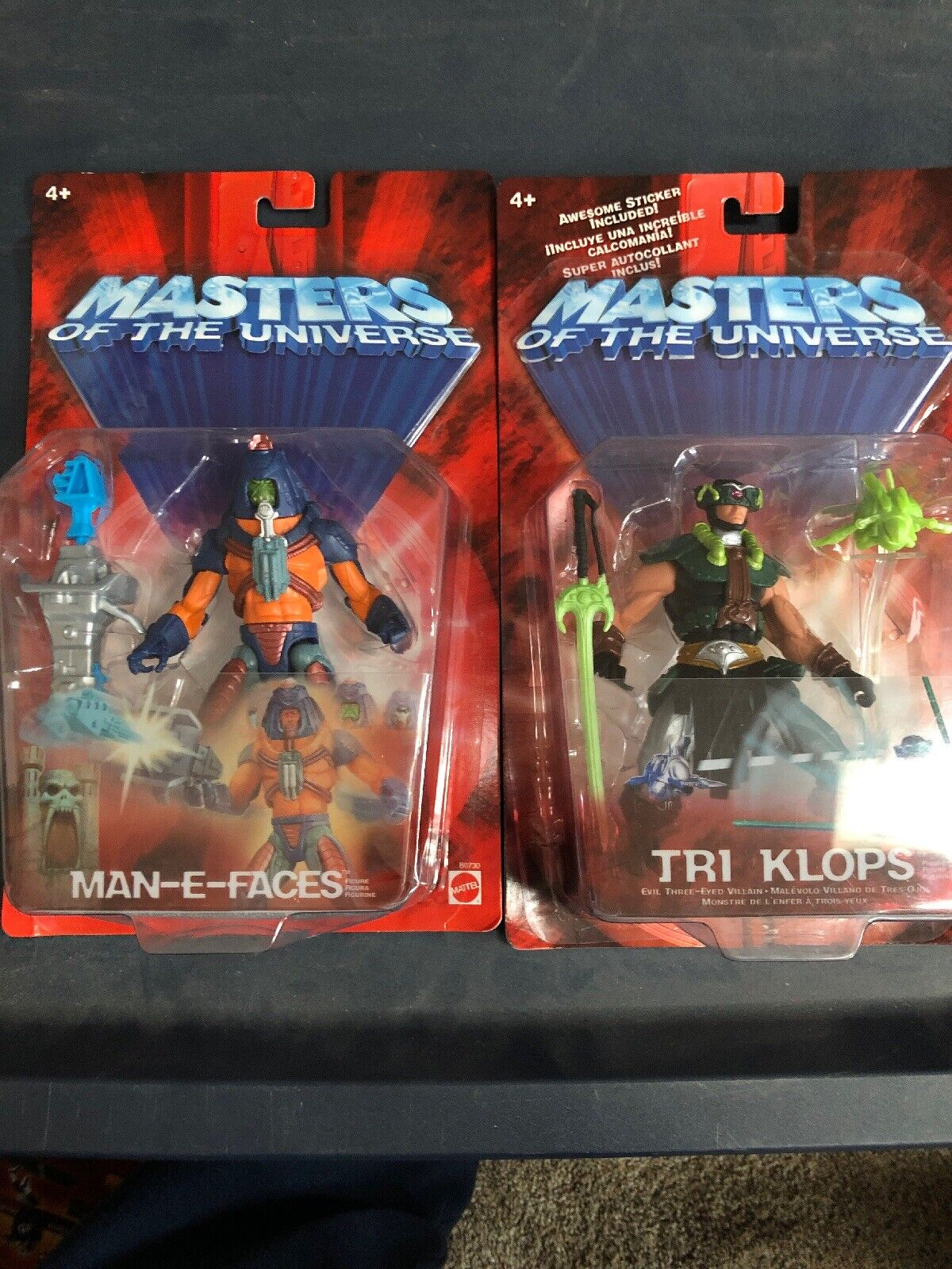 Masters of the universe Man E Faces and Tri Klops